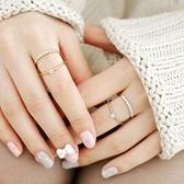 戒指 925純銀 鑲鑽-個性雙層生日情人節禮物女開口戒2色73dv11[時尚巴黎]