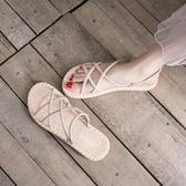 涼鞋女INS潮平底2020年新款夏季仙女風涼拖鞋女外穿時尚沙灘鞋女