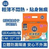 【安安】輕薄零感活力褲 S-M號 成人紙尿褲(18片x4包/箱)【原價1399,限時特惠】