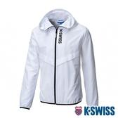 K-SWISS Solid Track Jacket 防曬抗UV風衣外套-男-白