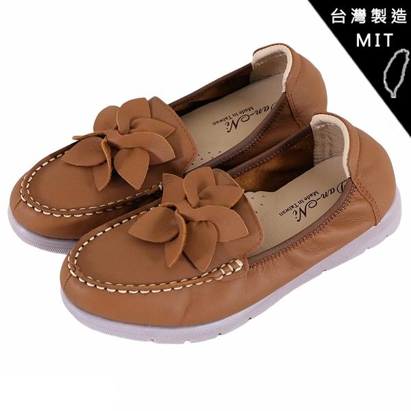 女款 F20 台灣製造真牛皮手工鞋柔軟耐折 休閒鞋 平底鞋 懶人鞋 娃娃鞋 圓頭鞋 59鞋廊