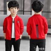 男童秋裝外套 新款兒童春秋薄款夾克衫中大童裝男孩潮流棒球服 安妮塔小舖