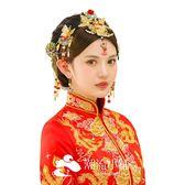 頭飾 古裝鳳冠頭飾秀禾和服民族風 潮流小鋪