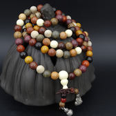 全館免運八折促銷-多寶珠手鍊108顆多寶串男女款紅花梨檀香木念珠佛珠手串文玩念珠