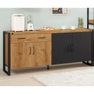 【森可家居】布朗克斯6尺餐櫃 8CM910-1 木紋質感