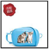 巴黎世家貓咪藍色小斜背489809全新商品