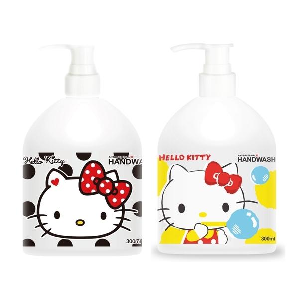 Hello Kitty 洗手乳(300ml) 白麝香/小蒼蘭 款式可選【小三美日】 三麗鷗授權 防疫必備