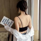 錐點V領裹胸抹胸打底帶胸墊防走光運動瑜伽內衣吊帶背心學生少女