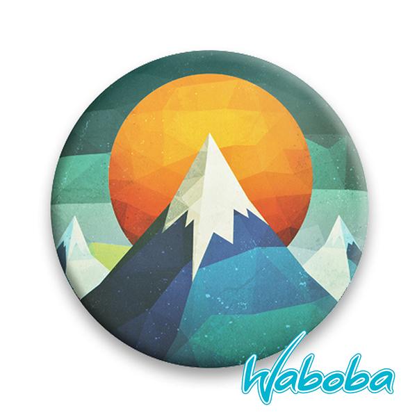 【Waboba】軟式飛盤/藝術家 系列2『山』302C01 戶外 出遊 沙灘 海岸 親子 遊戲 兒童 公園 飛盤