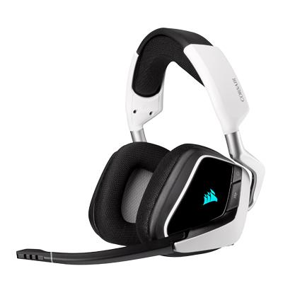CORSAIR 海盜船Corsair VOID RGB ELITE Gaming無線耳麥 白