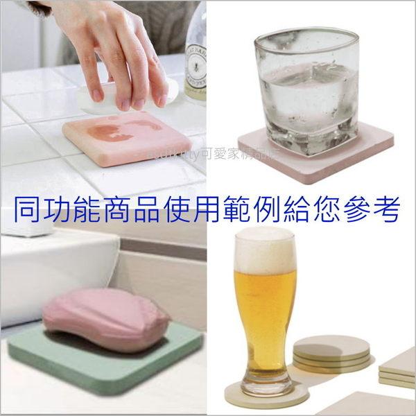 asdfkitty可愛家☆大耳狗珪藻土/硅藻土 杯墊-吸水快-也可當肥皂架-日本正版商品