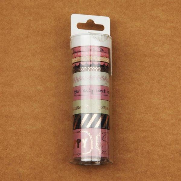 七七 燙金燙銀 和紙膠帶 歐美套裝設計 口紅粘膜貼 學生文具手帳·享家生活館