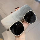GM墨鏡大臉顯瘦明星同款太陽眼鏡女網紅復古韓版圓臉白色凹造型潮