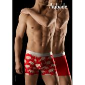 Aubade man-壞男人M-XL舒棉平口褲(紅象2件組)