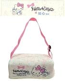 車之嚴選 cars_go 汽車用品【PKTD009P-03】Hello Kitty 知心系列 面紙盒套袋(可吊掛車內頭枕) 附贈面紙盒