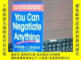 二手書博民逛書店you罕見can negotiate anything:你可以談
