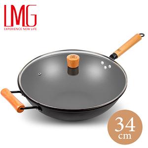 LMG長野不沾熟鐵鍋(升級版)-34CM(贈單把小奶鍋)
