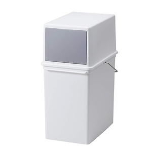 【Like-it】Seals前開式可堆疊垃圾桶17L - 純白色