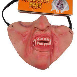 萬聖節面具道具用品 半臉面具 --尖牙 35g三個價