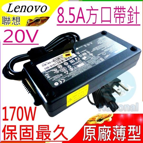 LENOVO變壓器(原廠薄型)-20V,8.5A,170W,ThinkPad T540P,T440P,W540,P50,P51,ADL170NLC3A,方口帶針