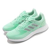 adidas 慢跑鞋 Runfalcon 2.0 綠 白 愛迪達 透氣 輕量【ACS】 FY9625