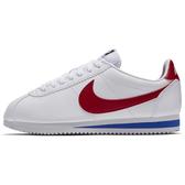 R-NIKE CLASSIC CORTEZ LEATHER 女鞋 休閒 阿甘 皮革 經典 白紅藍 807471-103