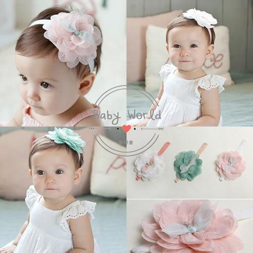 髮帶 寶寶 嬰兒 頭飾 花朵 蕾絲 公主 拍照 造型 BW
