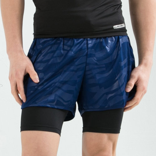 男性多功能運動短束褲 運動緊身褲 運動內褲(黑色)