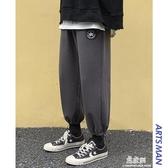 休閒褲秋季束腳休閒工裝褲韓版寬鬆潮流百搭加絨加厚運動褲 易家樂