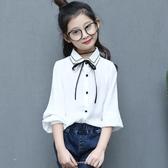 兒童襯衫長袖女童2019春裝襯衣純棉童裝新款上衣打底衫5-15歲大童