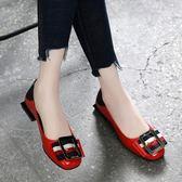 小皮鞋真皮平底鞋女夏季百搭粗跟船鞋軟底時尚夏款單鞋小皮鞋 時尚新品