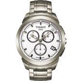 TISSOT 天梭 T-Sport 鈦金屬三眼計時手錶 T0694174403100