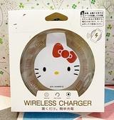 【震撼精品百貨】Hello Kitty 凱蒂貓~三麗鷗KITTY無線充電盤-透明圓紅*89860