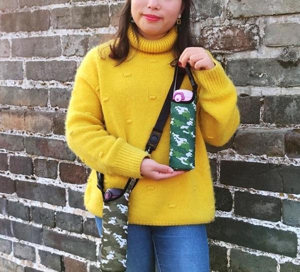 350/500/600/750ml通用帶提繩杯套斜背水杯保護套背帶保溫杯杯套 韓國時尚週
