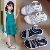 兒童涼鞋2020夏新款女童水鉆公主鞋小女孩韓版時尚軟底鞋中大童潮 中秋節
