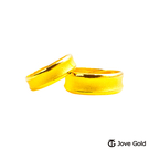 Jove Gold漾金飾 寧靜黃金成對戒指