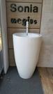【麗室衛浴】洗臉盆 210 落地立柱型 壁排/單孔 53*52*88CM