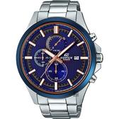 CASIO卡西歐 EDIFICE 賽車設計手錶-藍直紋 EFV-520DB-2AVUDF / EFV-520DB-2A