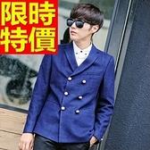 西裝外套-韓版修身雙排扣羊毛男毛呢外套2色63af24[巴黎精品]