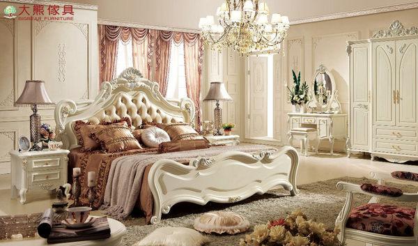 【大熊傢俱】906 韓戀 法式床 雙人床 床台 六尺床 歐式 皮床 另售化妝台