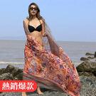 ✤宜家✤百搭海灘民族風棉麻超大絲巾 夏季防曬披肩 沙灘圍巾 紗巾