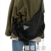 韓國ins原宿風街頭百搭機能工裝背包單肩包斜背包學生書包男女潮 極客玩家