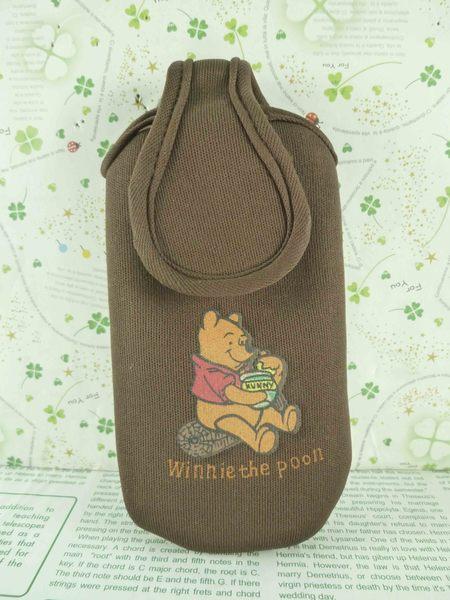 【震撼精品百貨】Winnie the Pooh 小熊維尼~電話套-咖啡M