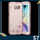 三星 Galaxy S7 閃鑽秘密花園保護套 軟殼 女神系列 電鍍貼鑽 超薄0.6mm全包款 手機套 手機殼