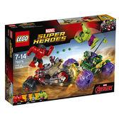 樂高積木LEGO 超級英雄系列 76078 浩克vs.紅浩克