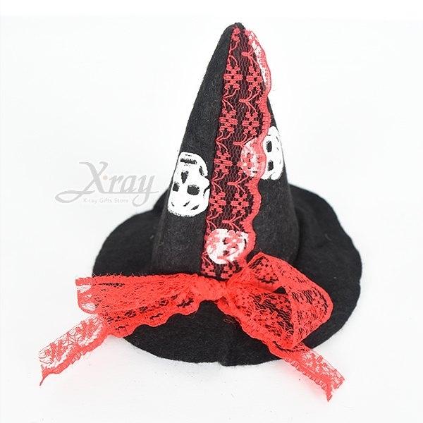 節慶王【W016050】巫婆帽髮夾(黑),萬聖節/髮夾/帽夾/飾品/派對/化妝舞會/表演道具/話劇/髮圈