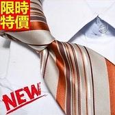桑蠶絲領帶 男配件-窄版條紋商務紳士手打領帶66ae32[巴黎精品]