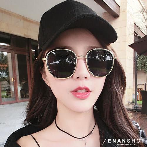 惡南宅急店【0043M】復古金屬圓框墨鏡 明星款太陽眼鏡 墨鏡 太陽眼鏡
