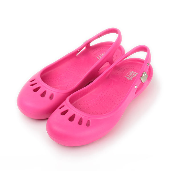 【HELLO KITTY 防水後空娃娃鞋 桃 女】