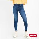 Levis 女款 710 中腰超緊身窄管 / 超彈力牛仔褲 / 深藍微刷白